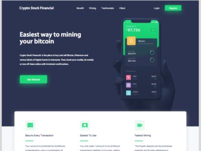 Bitcoin, crypto Trading Platform Concept Design