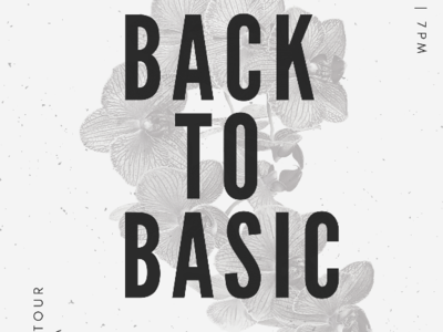 Back to basic poster design creative typography booklet graphic design color logo design website ui wireframe web ui website styleframe user interface ux ui
