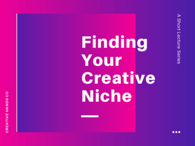 Find you niche, interactive animated design