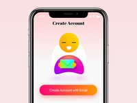 Welcome screen concept for iPhone X