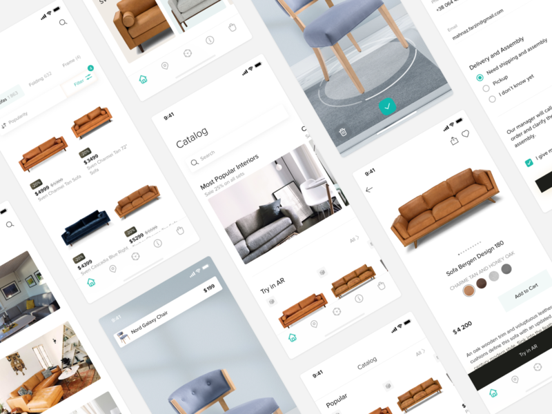 Agmenty - AR store for furniture ar store e-commerce mobile app furniture app furniture store augmented reality augmented art user interface mobile ui mobile design ui design ui