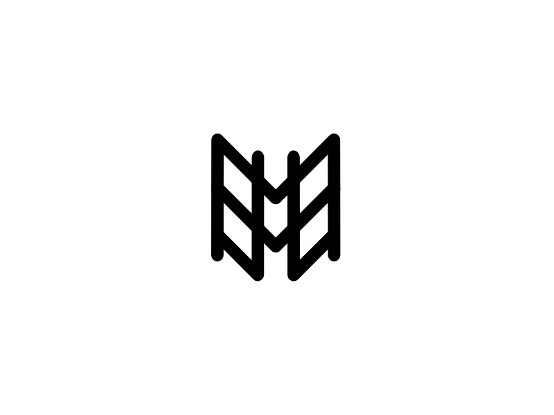 Hey Dribbble! monogram logo