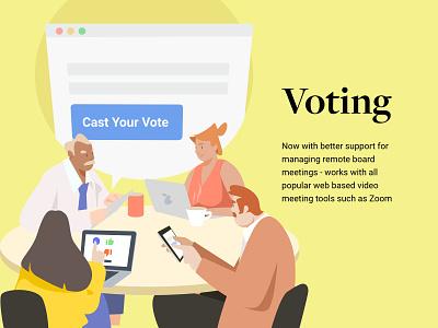 voting ui flat website web design illustration vector