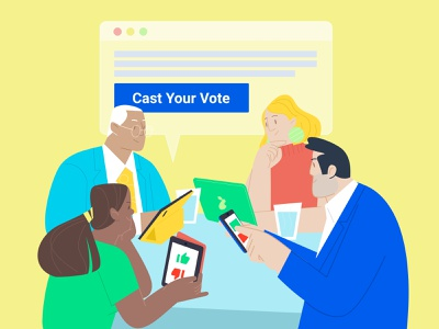 voting illustrator branding flat app website illustration vector