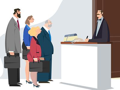McDonald - Committee of Four illustration web vector ui design