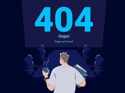 404 page app website illustration ui design vector