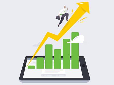 productive boards productive flat website app web illustration design ui vector