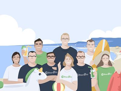 REDUCE   MANAGE team flat website web design illustration vector
