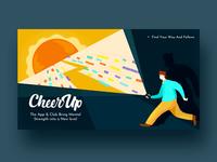 Cheer Up App Marketing Illustration