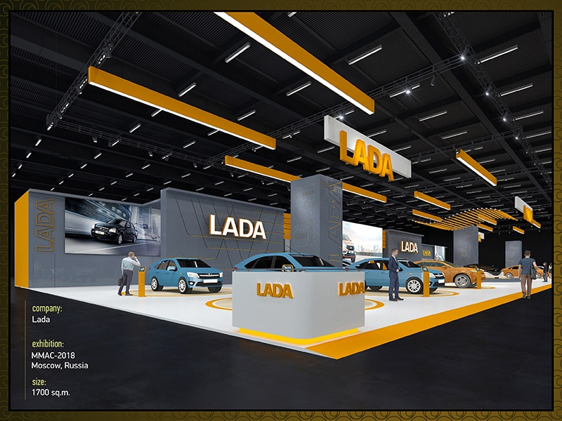 Exhibition Stand Design Peterborough : Lada by vladimir kan dribbble dribbble