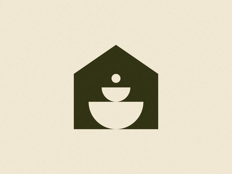 Dinnerware house logoinspiration geometric visual identity branding brand logo design logo symbol icon mark dinnerware