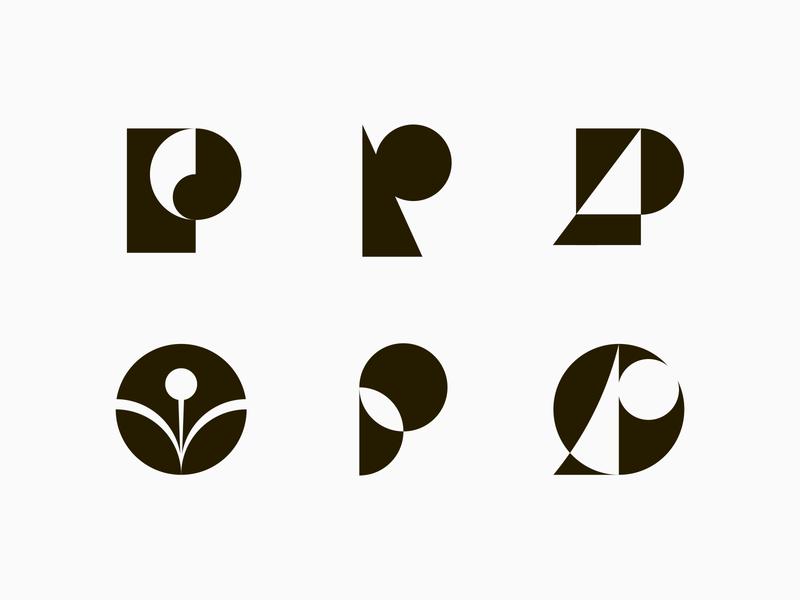 P marks icon symbol logotype geometric initials visual identity branding brand navigation sustainable letter mark logo