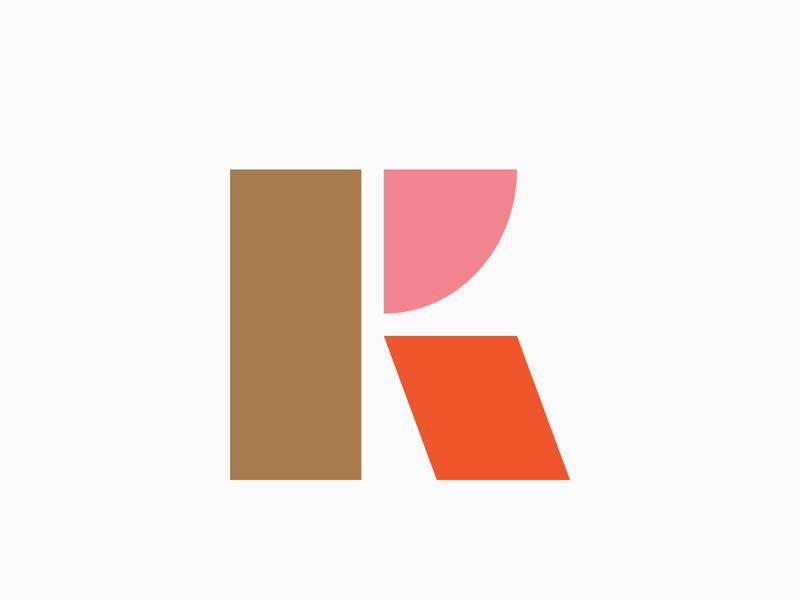 K mark brand logoinspiration logo design icon symbol mark logo minimal basic shape geometric lettermark monogram letter initial k