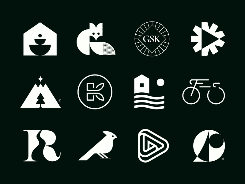 My logos for LogoLounge 12 logo design monogram logo argentina logolounge modernism geometric logoinspiration mark symbol identity branding brand marks logos