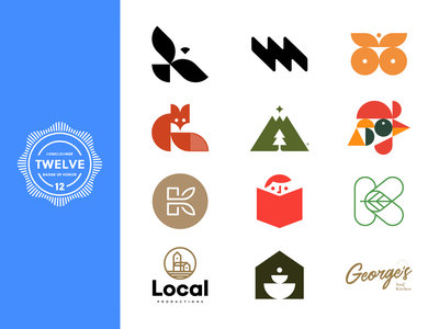 LogoLounge 12 geometric modernism symbol icon mark logotype logo design identity branding 2020 12 lounge logolounge