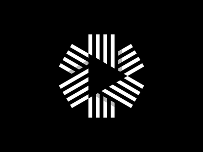 Play Mark ▶️ minimal geometric logoinspiration illustration design visual identity branding brand identity identity logo design logo symbol icon mark technology content media video play