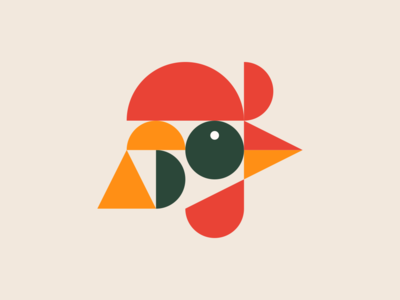 Rooster hen brand design shapes vectober illustration icon mark logoinspiration logo cock modern minimal head geometric food bird animal chicken rooster
