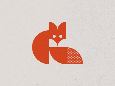 Fox III geometrical logoinspiration logo design orange animal character geometric timeless modernism minimal identity illustration brand branding vulpes symbol icon logo mark fox