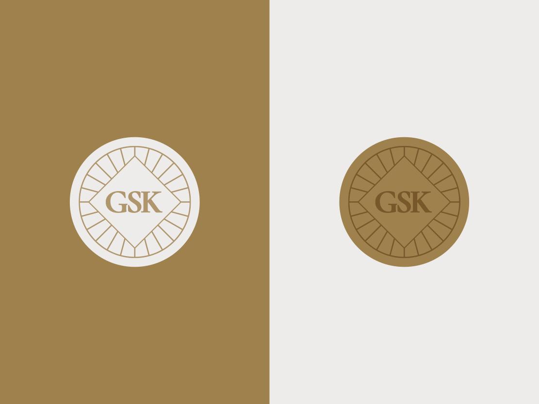 George's Soul Kitchen Pt. III brand system stamp circle sticker vector graphic design monogram typography badge minimal geometric mark icon symbol logomark logo brand identity branding