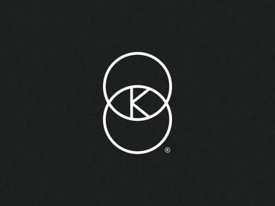 Connection K icon branding logo design connection monogram geometric symbol brand mark logo