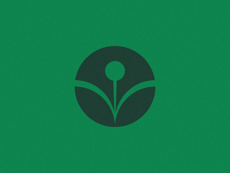 Pen + Leafs + Blossom sustainable green emblem eco pen leaf brand identity graphic design monogram design brand geometric symbol branding icon logo mark