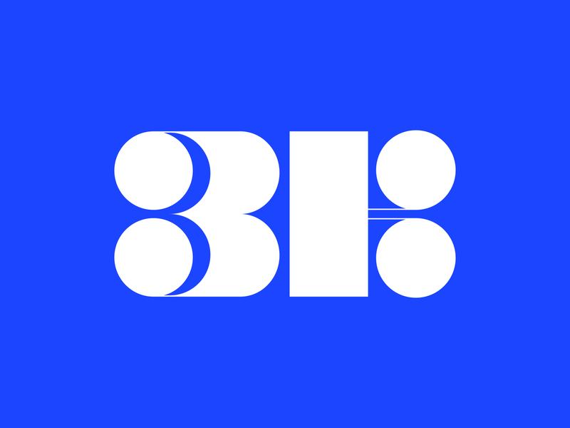 3k geometric logotype brand identity logo design modernism 3k icon mark logo
