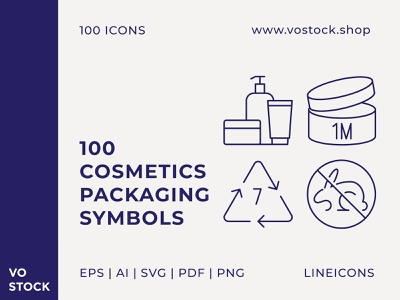 Cosmetics Packaging Symbols icons set package collection cosmetics packaging symbol pictogram icon line icon outline