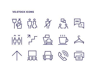 Wayfinding Icons talk conversation print wardrobe coffee parking car elevator toilet wc arrow simple outline line icon wayfinding sign symbol pictogram icon