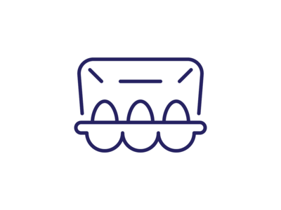 Egg Packing Icon linу icon eggs package packing design illustration festival easter egg easter symbol simple sign pictogram outline icon