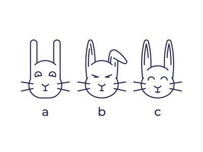 Easter Bunny cute animal spring iconography easter hunter rabbit hare line icon vector easter bunny illustration design easter symbol simple sign pictogram outline icon