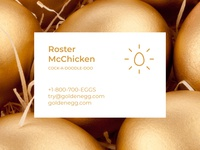 Business Card for Poultry Farm