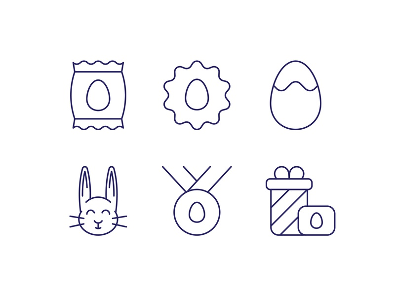 Easter Icons bunny hare animal vector easter bunny design spring line icon illustration festival easter egg sign easter symbol simple pictogram outline icon