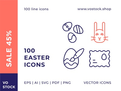 Easter Icons Sale sale ui icons design icons hare easter bunny vector easter egg line icon illustration spring easter sign symbol pictogram icon simple outline