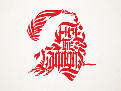 Fire the Cannons vector brand identity football pirates superbowl identity calligraphy and lettering artist branding design blackletter buccaneers bucs tampa calligraphy type logo design typography lettering