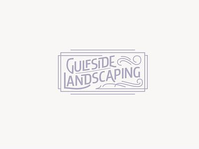Landscaping badge gardening landscaping landscape lettering vintage identity branding design vector logo typography brand identity logo design