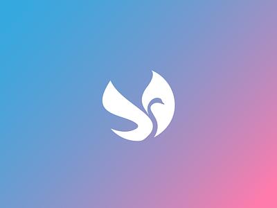 Swan duck graphic design illustration brand identity logo design logo wings bird swan