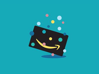Gift card contest card survey confetti spot illustration amazon illustration logo design vector gift card