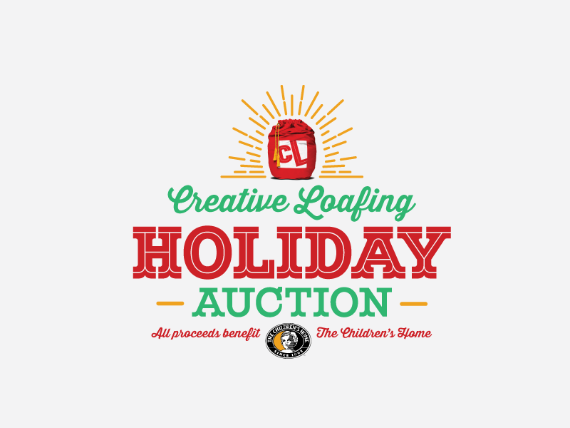 Holiday Auction  logo vector holiday auction typography