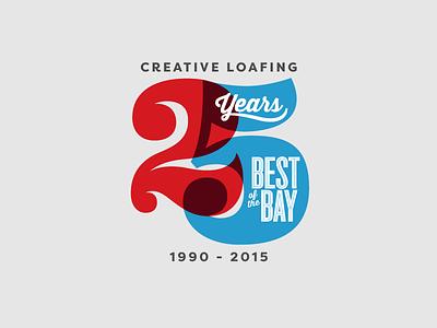25 bay best tampa number vector design vintage lettering identity logo design typography brand identity branding icon logo 25 anniversary badge 2 5