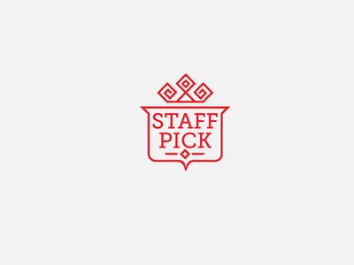 Staff Pick crest identity brand identity logo design lettering badge branding crown shield emblem seal icon logo