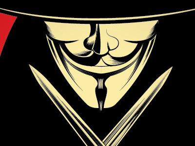 Vendetta anonymous vector illustration vendetta 5th of november v revolution mask occupy