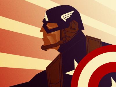 Captain America superhero superheroes america illustration vector heroes characters art deco