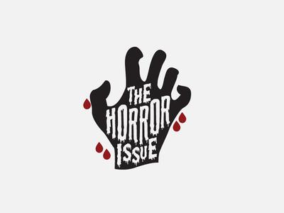 Horror Issue halloween lettering hand vector logo zombie horror