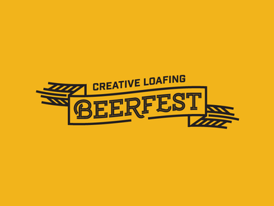 Beerfest tampa vintage identity badge illustration logo design brand identity typography type design branding wheat ribbon festival beer logo