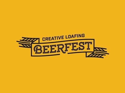 Beerfest hop craft beer tampa vintage identity badge illustration logo design brand identity typography type design branding wheat ribbon festival beer logo