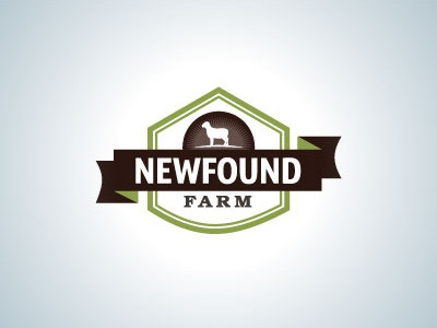 Farm identity farm lettering typography logo design barn sheep vintage ribbon