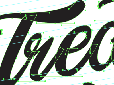 Treat Yo' Self typography node placement vector type brush lettering