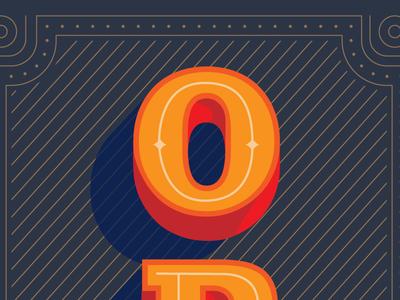 Open hireme icon monogram logo design branding type identity vintage typography calligraphy illustration brand identity logo freelance open sign lettering o shadows vector