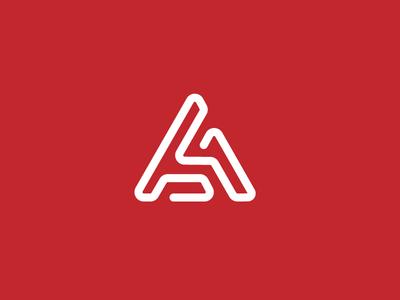 A identity logo design brand identity type lettering logo technology software monogram a