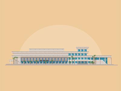 Convention Center icon icon design tampa convention center building vector illustration